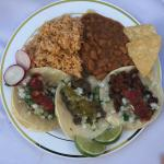 Taco Plate - Rice and Beans